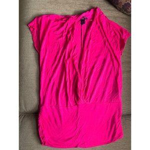 Magenta / Pink Medium drop neck H&M T-shirt